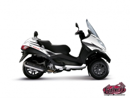 Piaggio MP3 Maxiscooter Velocity Graphic Kit White Black