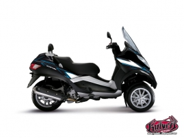 Kit Déco Maxiscoot Velocity Piaggio MP 3 Bleu