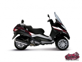 Kit Déco Maxiscoot Velocity Piaggio MP 3 Rouge