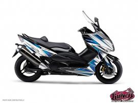 Kit Déco Maxiscoot Velocity Yamaha TMAX 500 Blanc Bleu