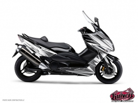 Yamaha TMAX 500 Maxiscooter Velocity Graphic Kit White Black