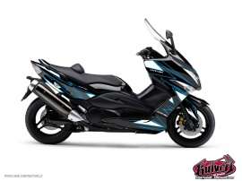 Yamaha TMAX 500 Maxiscooter Velocity Graphic Kit Blue