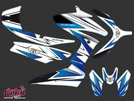 Yamaha TMAX 530 Maxiscooter Velocity Graphic Kit White Blue