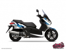 Yamaha XMAX 125 Maxiscooter Velocity Graphic Kit White Blue