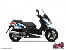 Kit Déco Maxiscooter Velocity Yamaha XMAX 125 Blanc Bleu