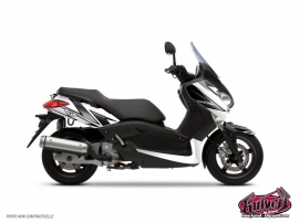 Kit Déco Maxiscooter Velocity Yamaha XMAX 125 Blanc Noir
