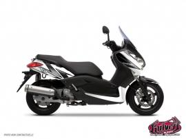 Kit Déco Maxiscooter Velocity Yamaha XMAX 125 Blanc Noir