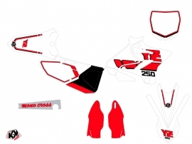 Kit Déco Moto Cross Vintage Yamaha 250 YZ Rouge