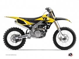 Yamaha 250 YZF Dirt Bike Vintage Graphic Kit Yellow