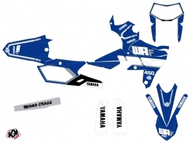 Yamaha 450 WRF Dirt Bike Vintage Graphic Kit Blue