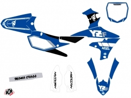 Yamaha 450 YZF Dirt Bike Vintage Graphic Kit Blue