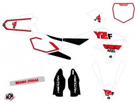 Yamaha 450 YZF Dirt Bike Vintage Graphic Kit Red