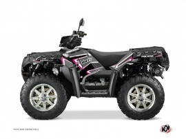 Polaris 550-850-1000 Sportsman Forest ATV Vintage Graphic Kit Black Pink