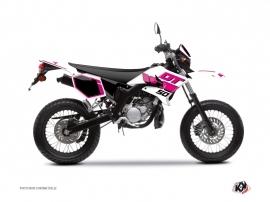 Yamaha DT 50 50cc Vintage Graphic Kit Pink