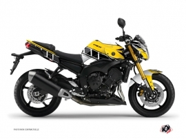 Yamaha FZ 8 Street Bike Vintage Graphic Kit Yellow