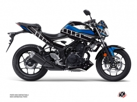 Yamaha MT 03 Street Bike Vintage Graphic Kit Blue