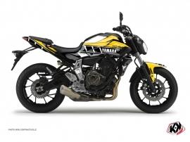 Kit Déco Moto Vintage Yamaha MT 07 Jaune