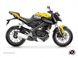 Kit Déco Moto  Vintage Yamaha MT 125 Jaune