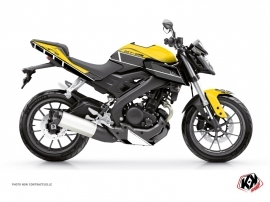 Yamaha MT 125 Street Bike Vintage Graphic Kit Yellow
