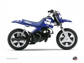 Kit Déco Moto Cross Vintage Yamaha PW 50 Bleu