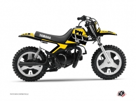 Kit Déco Moto Cross Vintage Yamaha PW 50 Jaune