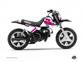 Kit Déco Moto Cross Vintage Yamaha PW 50 Rose