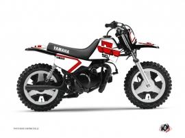 Kit Déco Moto Cross Vintage Yamaha PW 50 Rouge