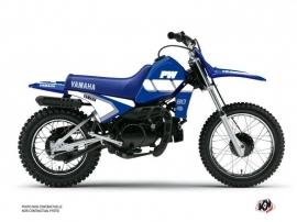Kit Déco Moto Cross VINTAGE YAMAHA Yamaha PW 80 Bleu