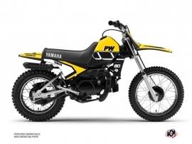 Kit Déco Moto Cross Vintage Yamaha PW 80 Jaune
