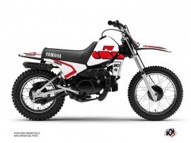 Kit Déco Moto Cross VINTAGE YAMAHA Yamaha PW 80 Rouge