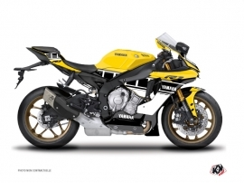 Kit Déco Moto  Vintage Yamaha R1 Jaune