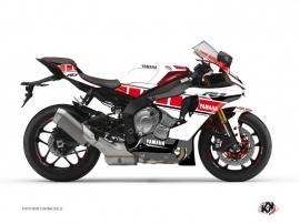 Kit Déco Moto  Vintage Yamaha R1 Rouge