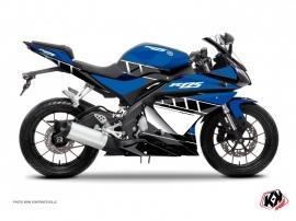 Kit Déco Moto Vintage Yamaha R125 Bleu