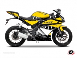 Yamaha R125 Street Bike Vintage Graphic Kit Yellow