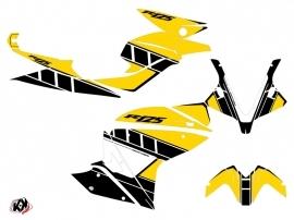 Yamaha R125 Street Bike Vintage Graphic Kit Yellow