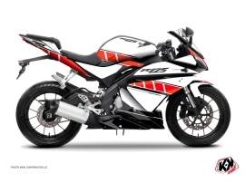 Yamaha R125 Street Bike Vintage Graphic Kit Red