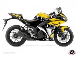 Kit Déco Moto Vintage Yamaha R3 Jaune