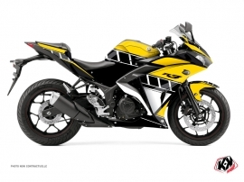 Yamaha R3 Street Bike Vintage Graphic Kit Yellow