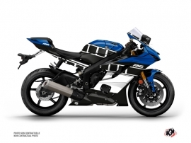 Yamaha R6 Street Bike Vintage Graphic Kit Blue