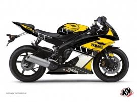 Kit Déco Moto  Vintage Yamaha R6 Jaune