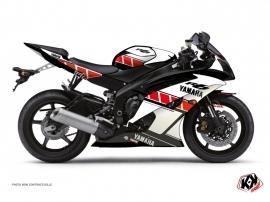 Kit Déco Moto Vintage Yamaha R6 Rouge