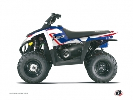 Polaris Scrambler 500 ATV Vintage Graphic Kit Blue