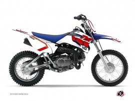 Kit Déco Moto Cross Vintage Yamaha TTR 110 Rouge
