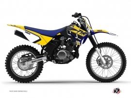 Kit Déco Moto Cross Vintage Yamaha TTR 125 Jaune