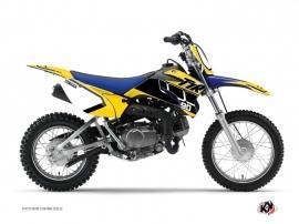 Kit Déco Moto Cross Vintage Yamaha TTR 90 Jaune