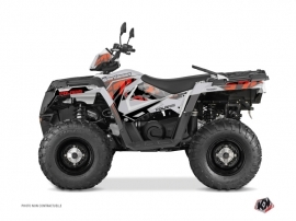 Kit Déco Quad Visor Polaris 570 Sportsman Touring Gris Rouge