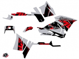 Polaris 570 Sportsman Touring ATV Visor Graphic Kit Grey Red