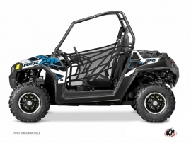 Polaris RZR 570 UTV Visor Graphic Kit Blue