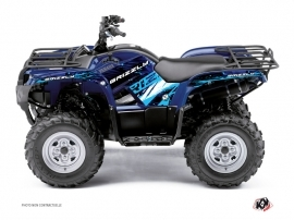 Yamaha 350 Grizzly ATV Wild Graphic Kit Blue