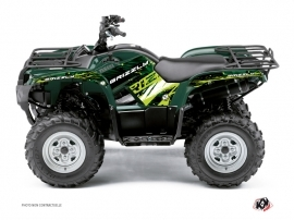Yamaha 350 Grizzly ATV Wild Graphic Kit Green